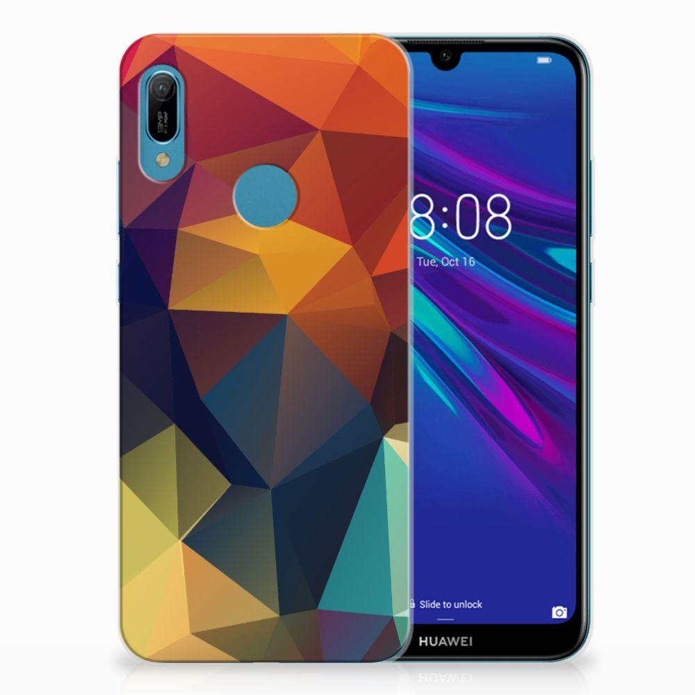 Huawei Y6 2019 | Y6 Pro 2019 TPU Hoesje Polygon Color