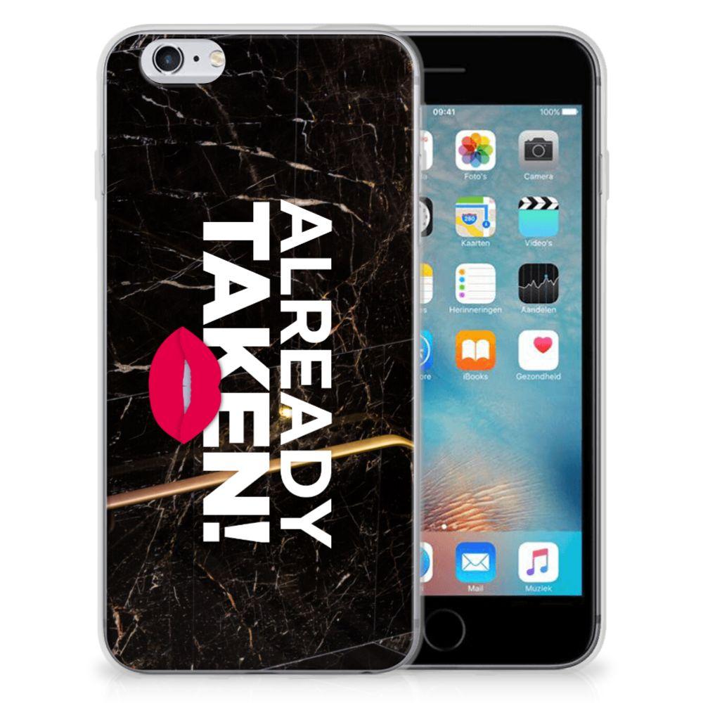Apple iPhone 6 | 6s Siliconen hoesje met naam Already Taken Black