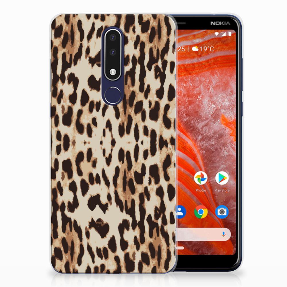 Nokia 3.1 Plus TPU Hoesje Leopard