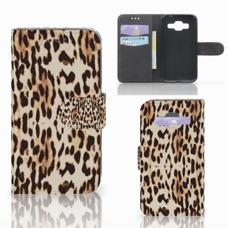 Samsung Galaxy Core Prime Telefoonhoesje met Pasjes Leopard