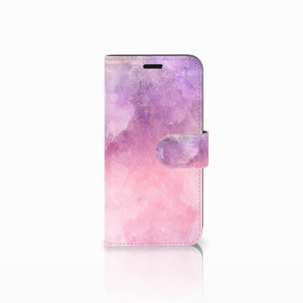 Huawei Nova Boekhoesje Design Pink Purple Paint