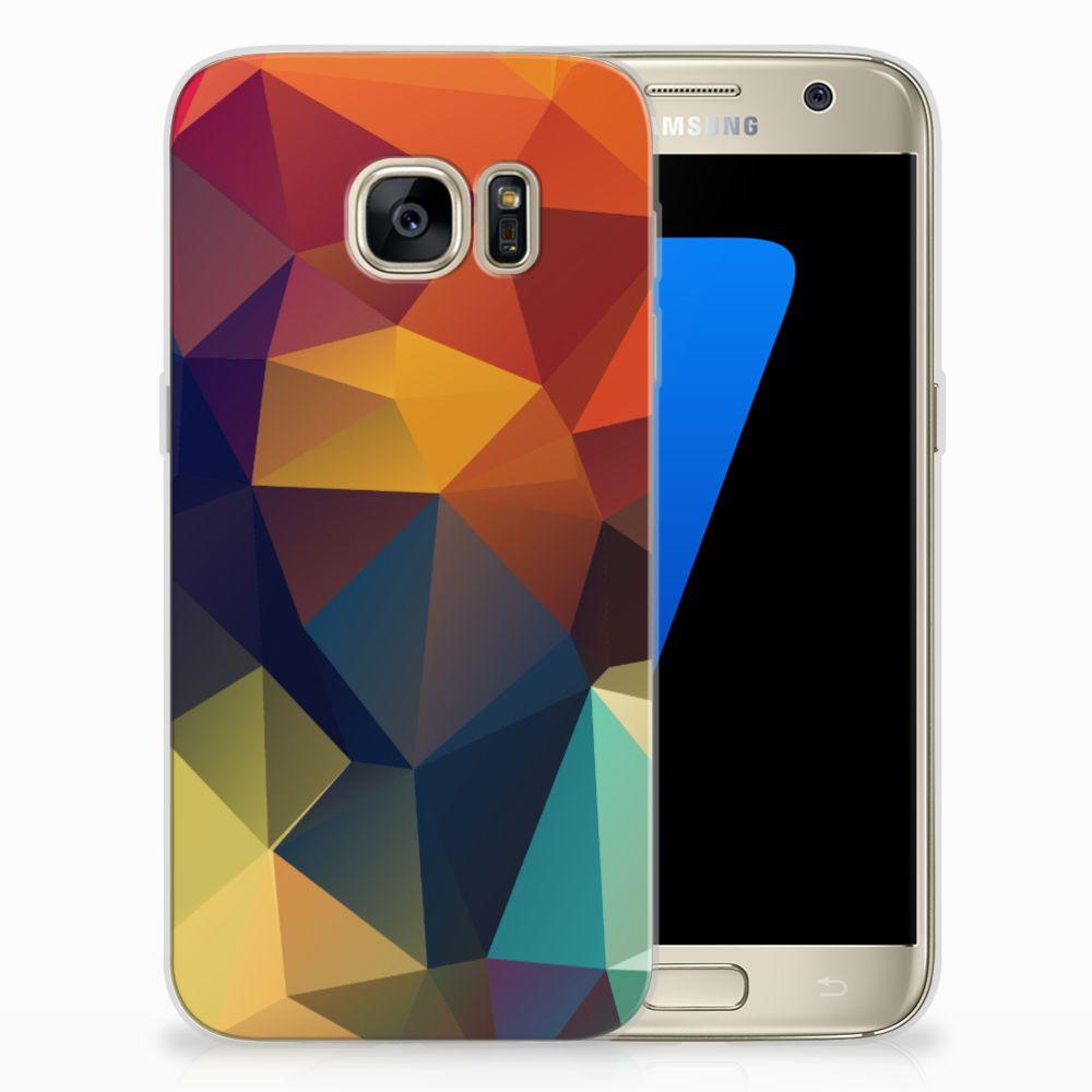 Samsung Galaxy S7 TPU Hoesje Polygon Color