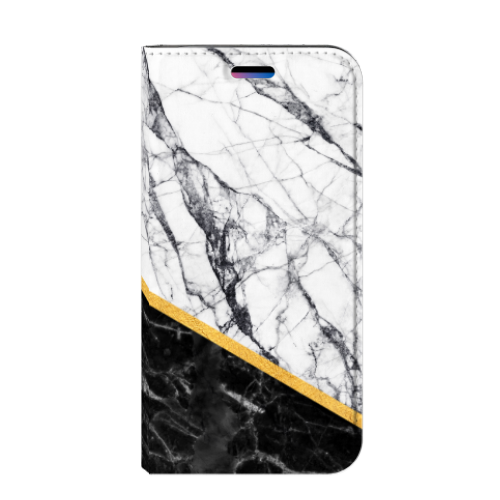 Apple iPhone X | Xs Standcase Hoesje Design Marble White Black