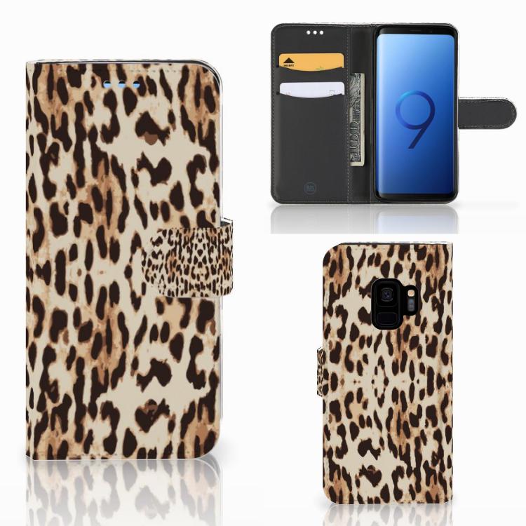 Samsung Galaxy S9 Telefoonhoesje met Pasjes Leopard