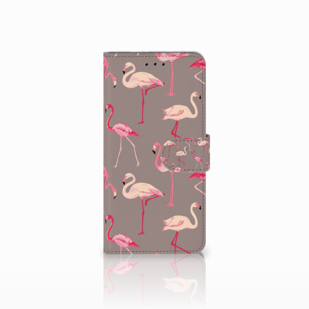 Motorola Moto E5 Uniek Boekhoesje Flamingo