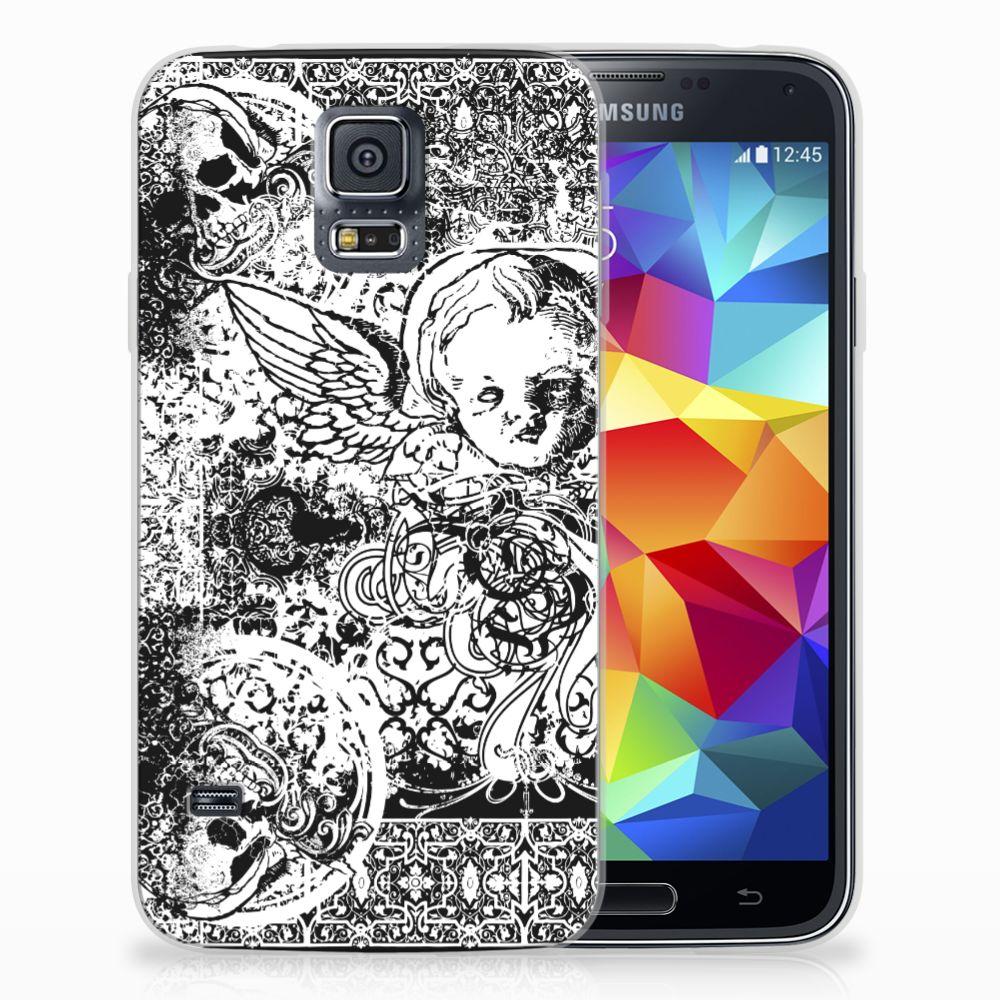 Silicone Back Case Samsung Galaxy S5 Skulls Angel