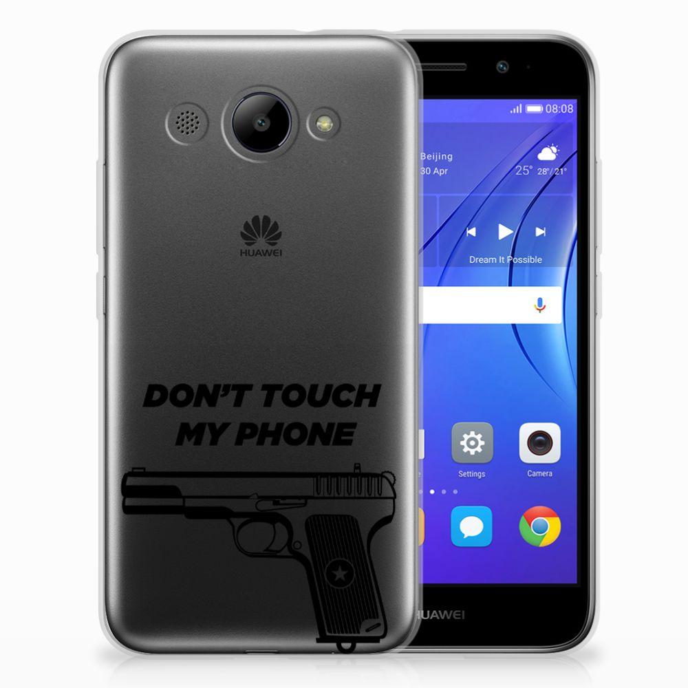 Huawei Y3 2017 Uniek TPU Hoesje Pistol DTMP