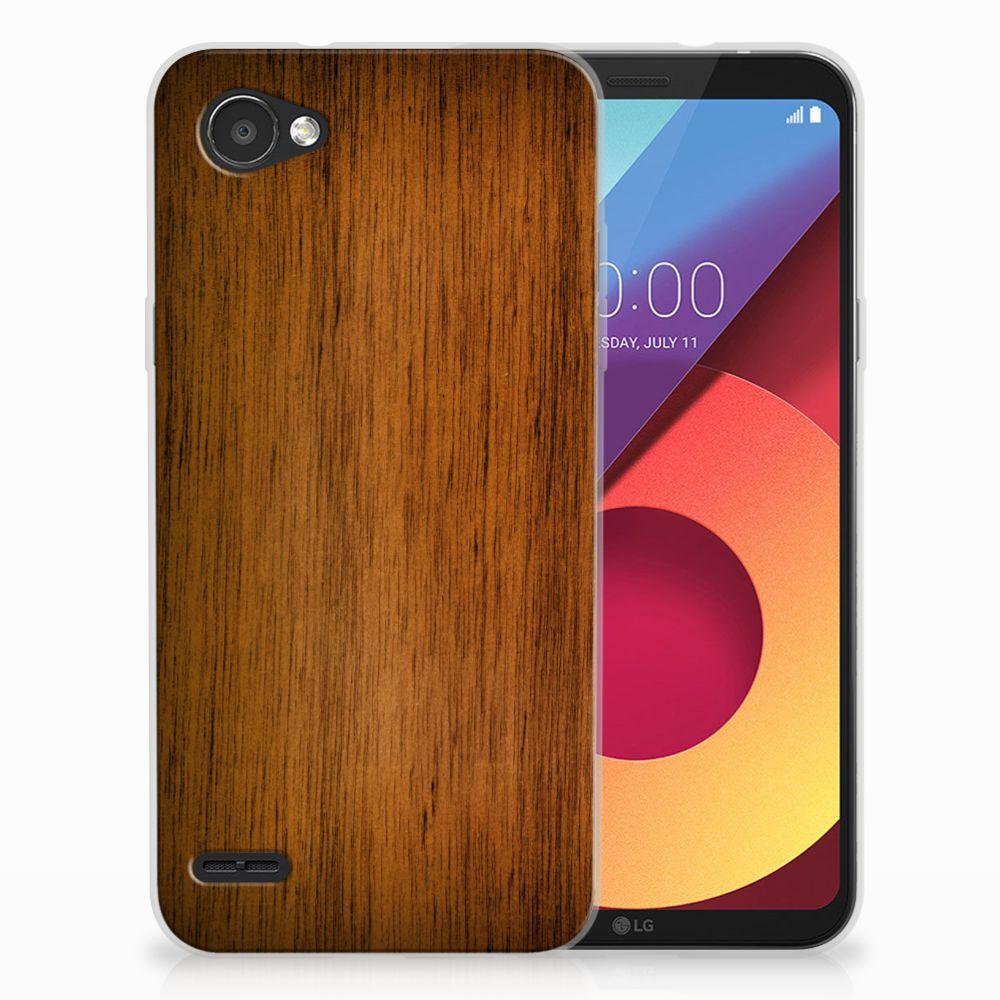 LG Q6 | LG Q6 Plus Uniek TPU Hoesje Donker Hout