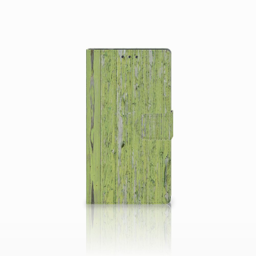 Samsung Galaxy Note 4 Boekhoesje Design Green Wood