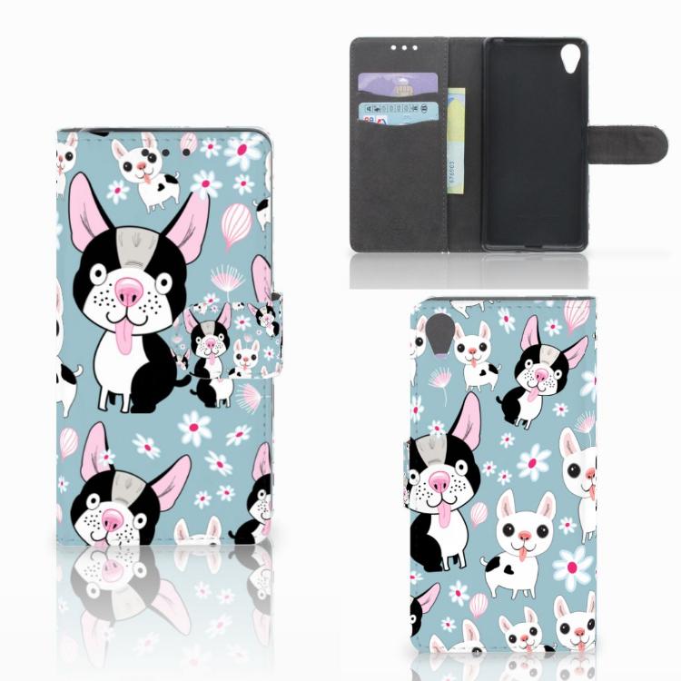 Sony Xperia X Telefoonhoesje met Pasjes Hondjes