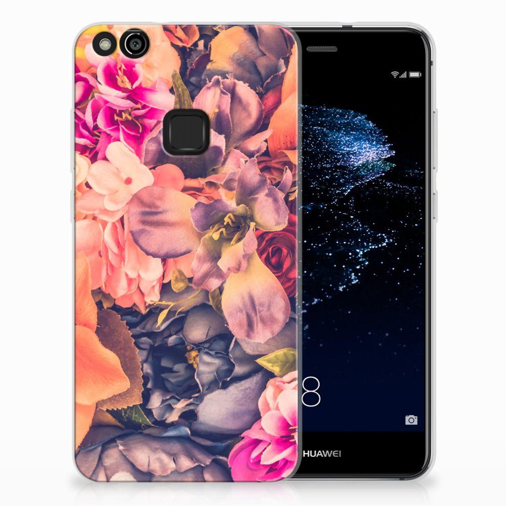 Huawei P10 Lite TPU Hoesje Design Bosje Bloemen