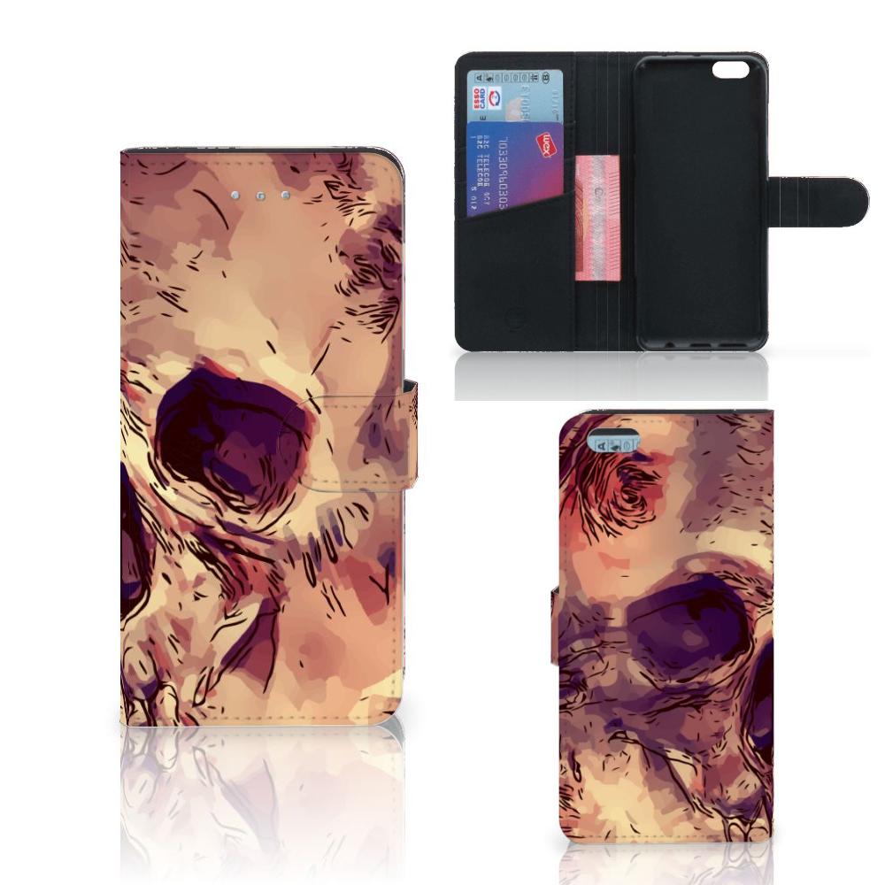 Telefoonhoesje met Naam Apple iPhone 6 Plus | 6s Plus Skullhead