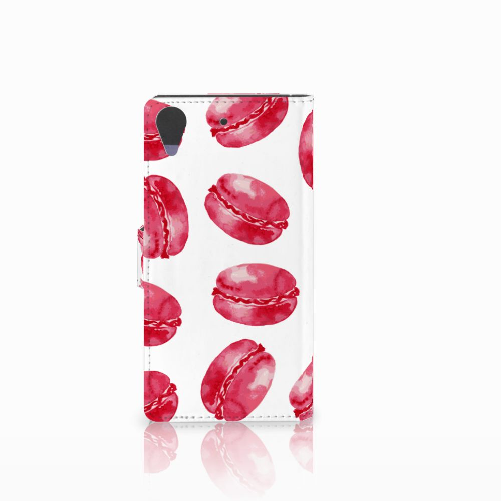 HTC Desire 628 Book Cover Pink Macarons