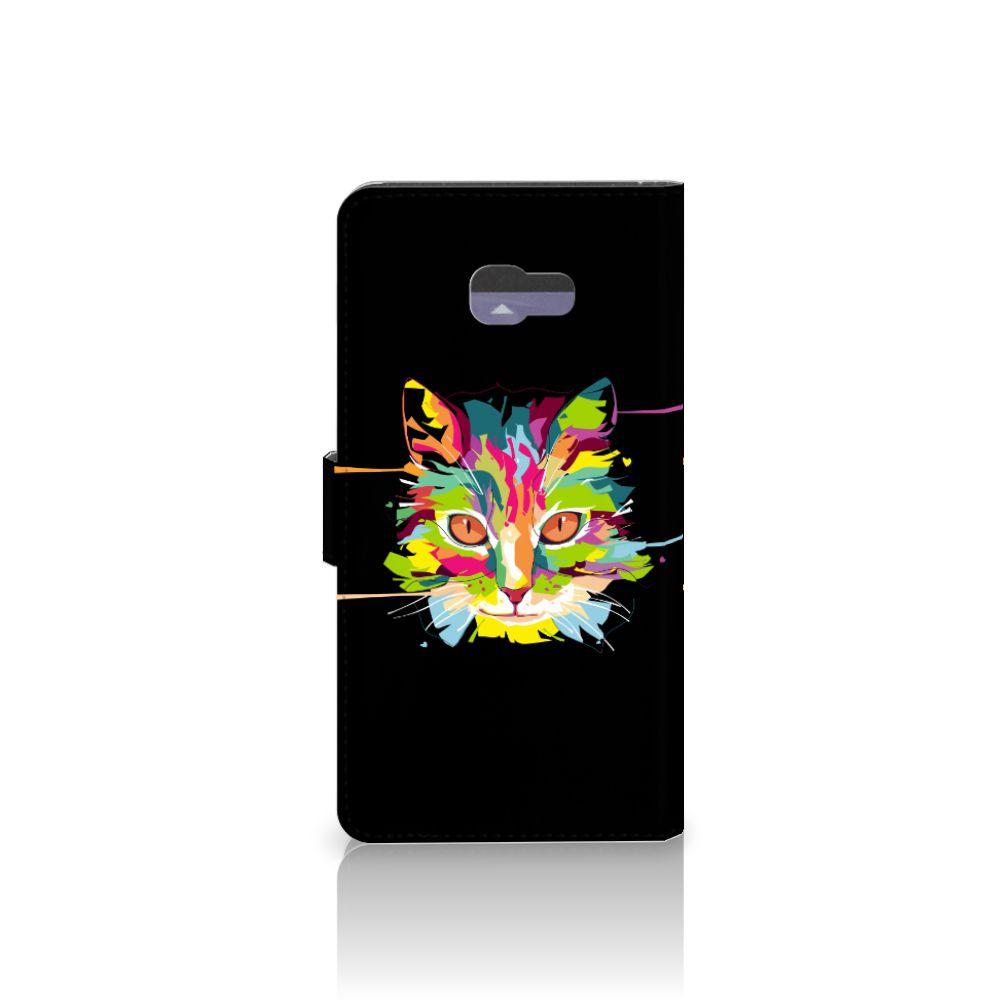 Samsung Galaxy A7 2017 Leuke Hoesje Cat Color