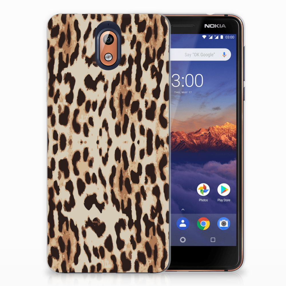 Nokia 3.1 (2018) Uniek TPU Hoesje Leopard