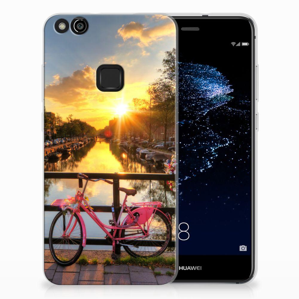 Huawei P10 Lite Uniek TPU Hoesje Amsterdamse Grachten