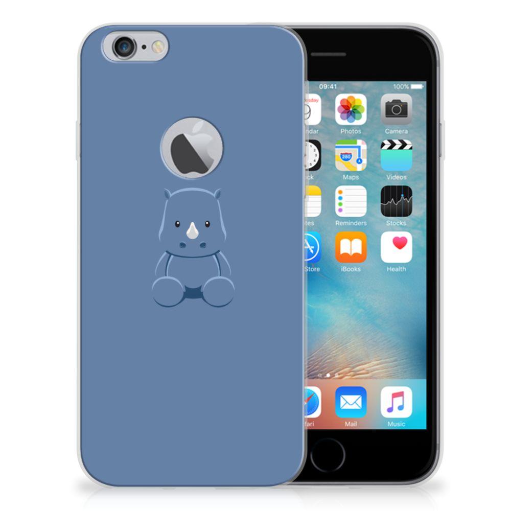 Apple iPhone 6 Plus | 6s Plus Telefoonhoesje met Naam Baby Rhino