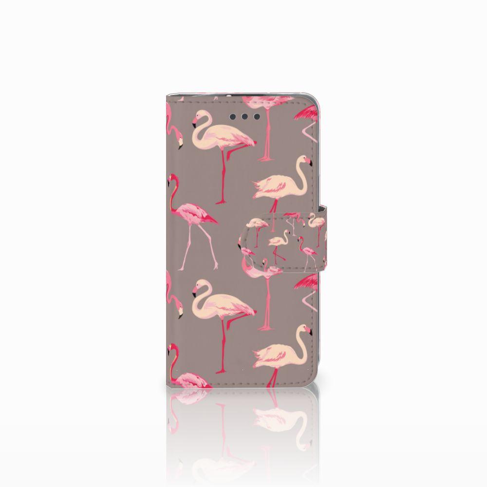 LG L70 Uniek Boekhoesje Flamingo
