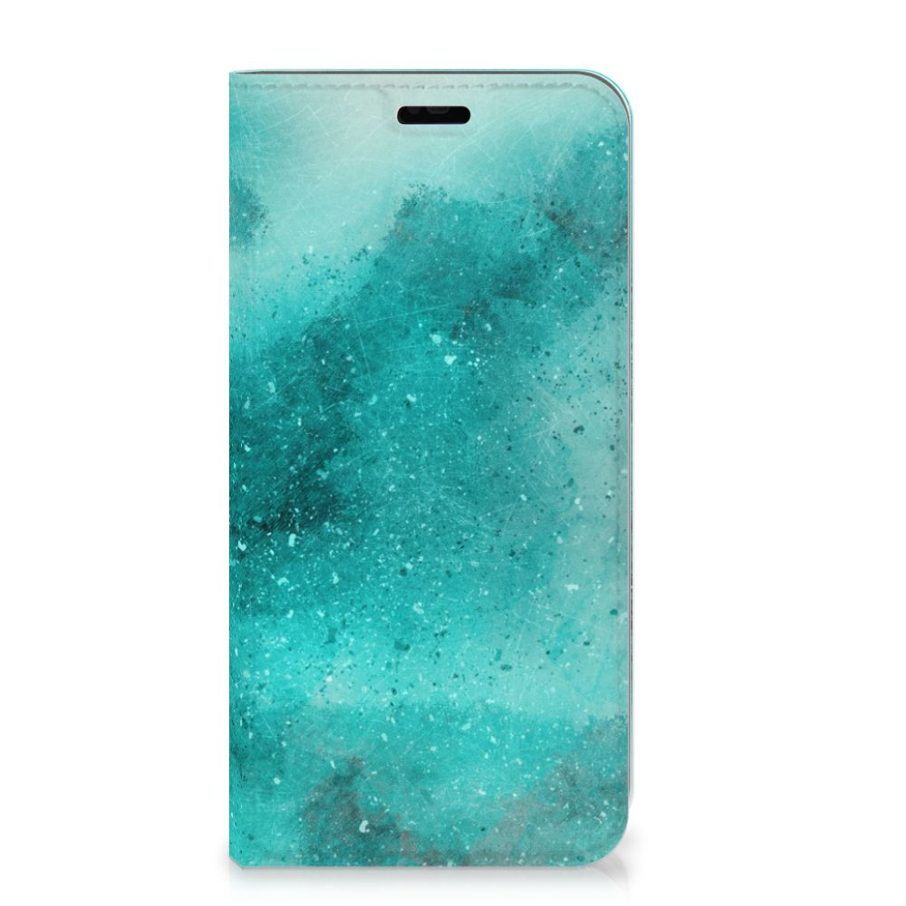 Bookcase Huawei P Smart Plus Painting Blue