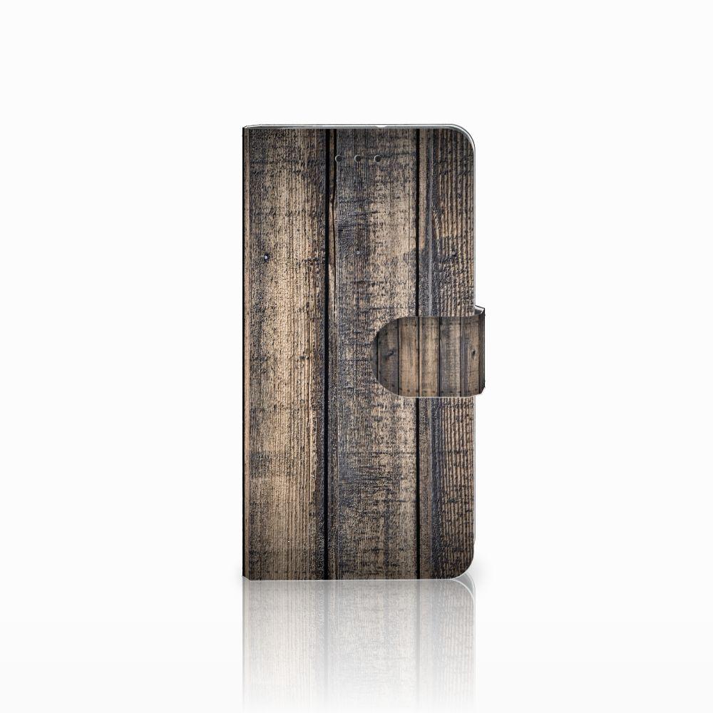 Motorola Moto G7 Play Boekhoesje Design Steigerhout