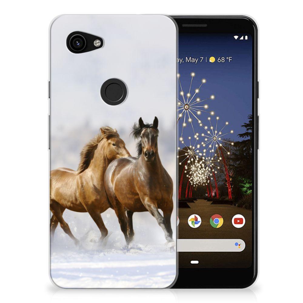 Google Pixel 3A TPU Hoesje Paarden