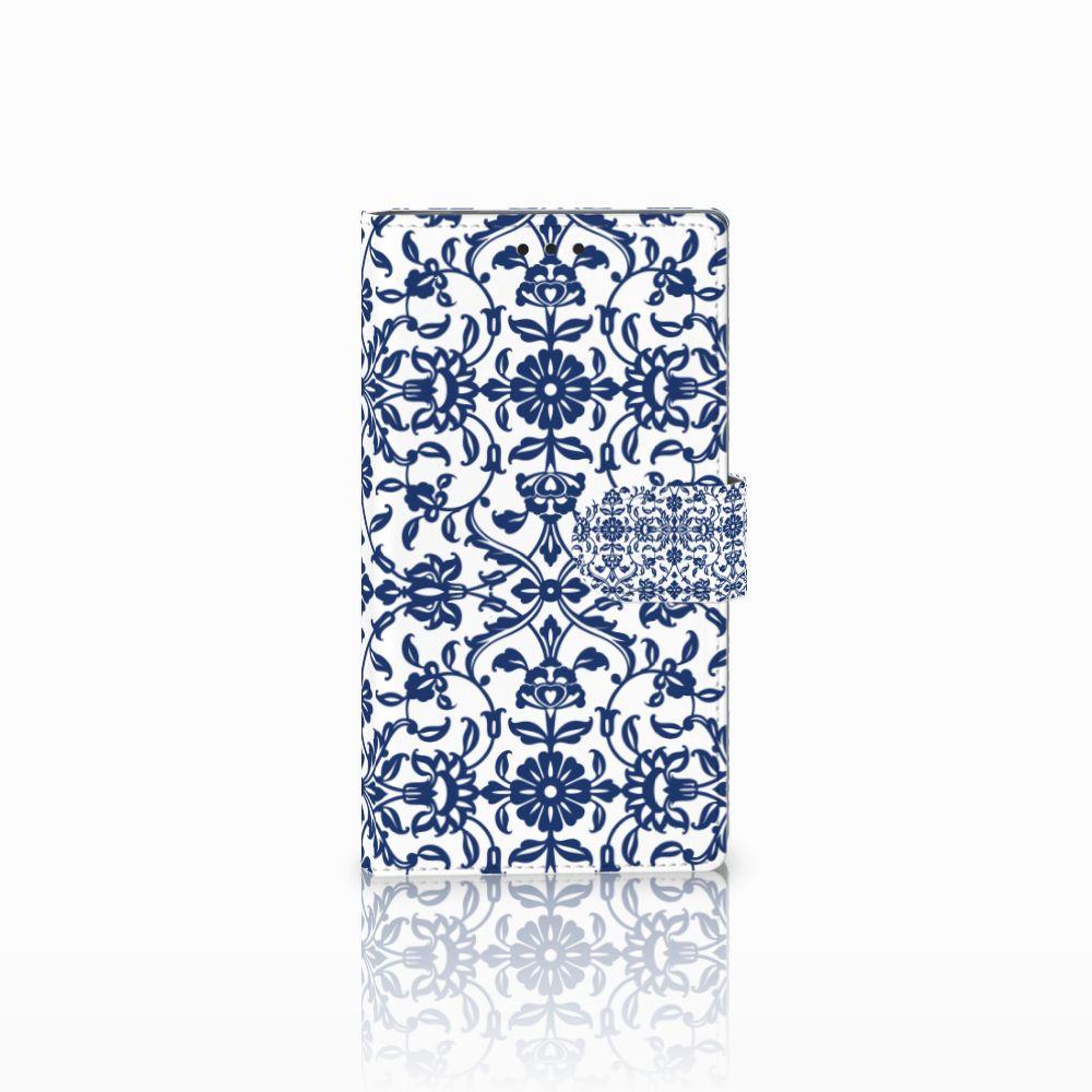Sony Xperia L2 Uniek Boekhoesje Flower Blue