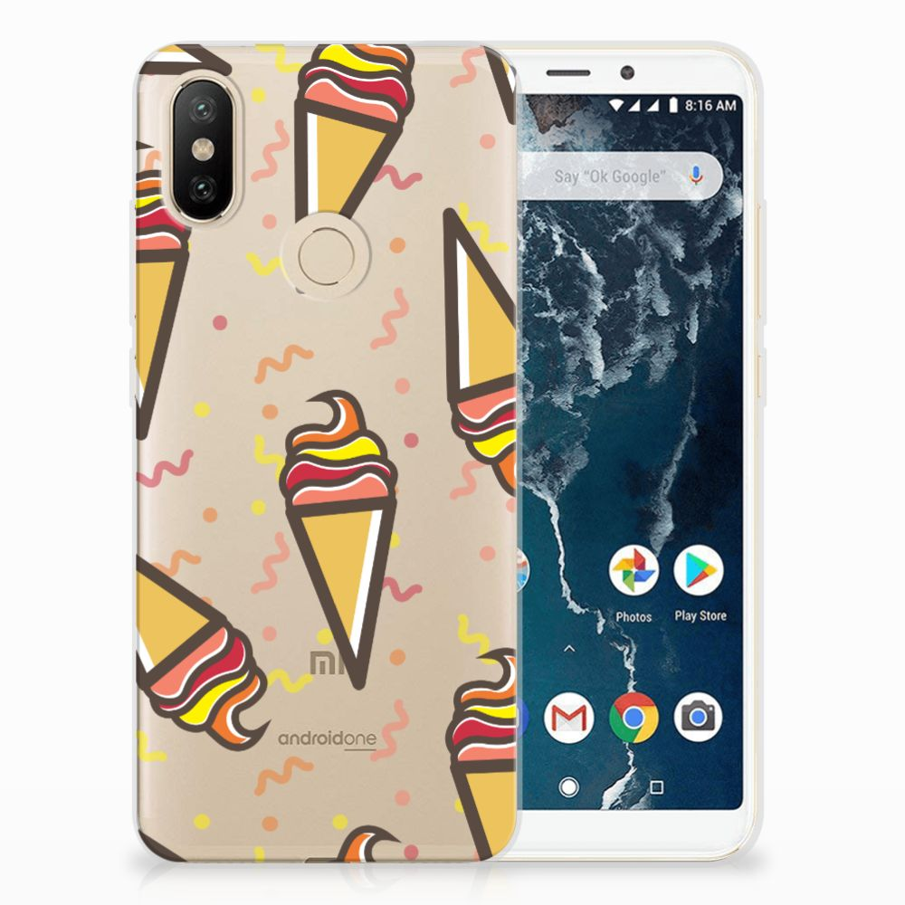 Xiaomi Mi A2 Siliconen Case Icecream