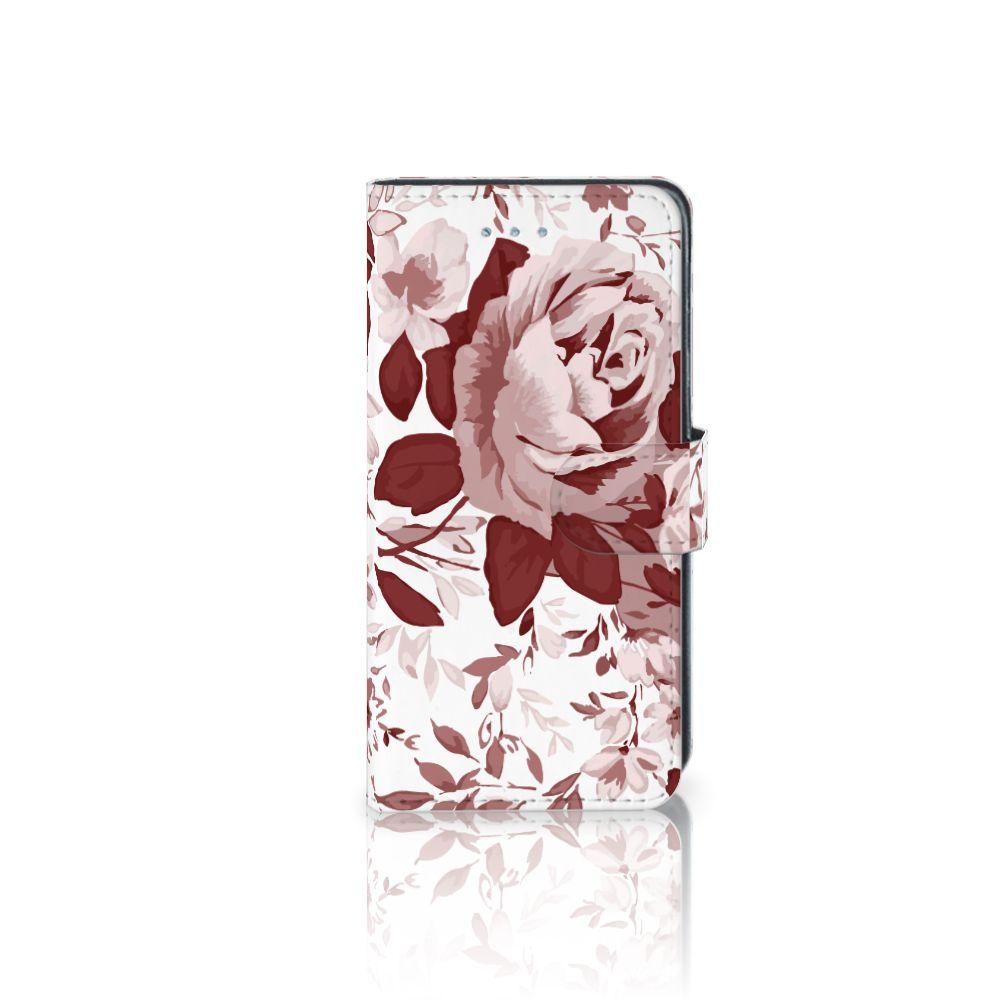 Samsung Galaxy J3 2016 Uniek Boekhoesje Watercolor Flowers