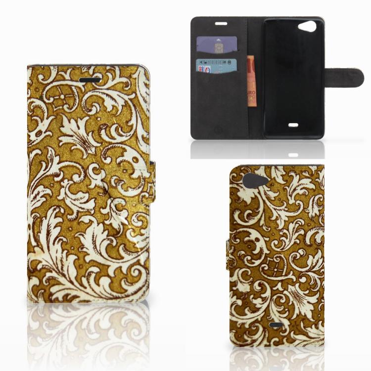 Wallet Case Wiko Pulp Fab 4G Barok Goud