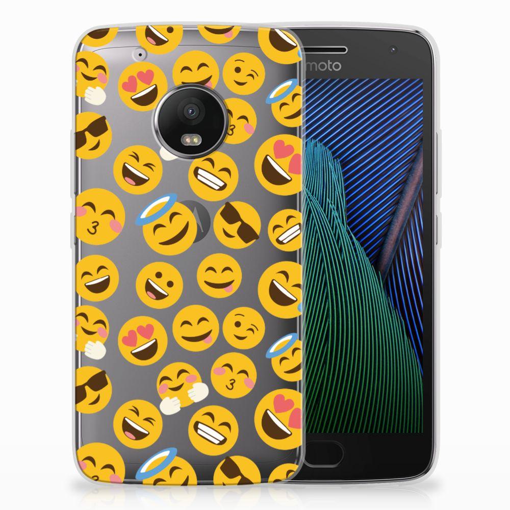 Motorola Moto G5 Plus TPU Hoesje Design Emoji