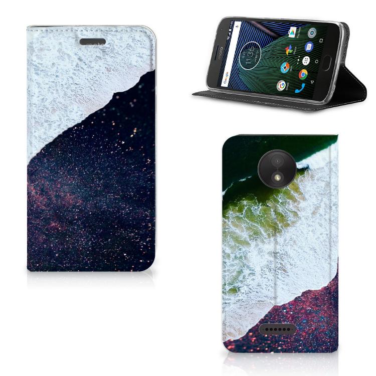 Motorola Moto C Plus Stand Case Sea in Space