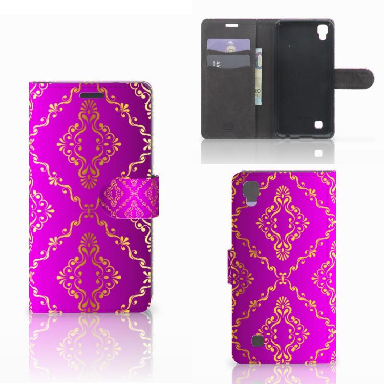 Wallet Case LG X Power Barok Roze