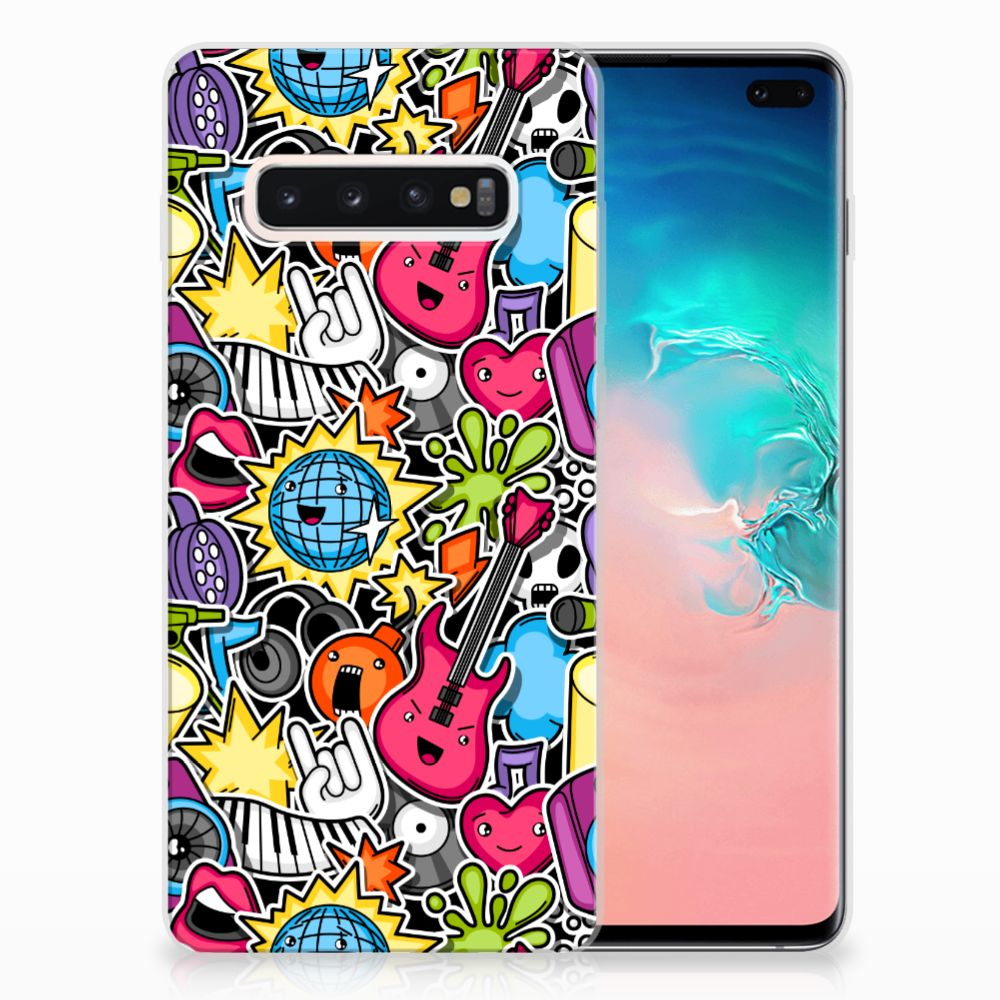 Samsung Galaxy S10 Plus Silicone Back Cover Punk Rock