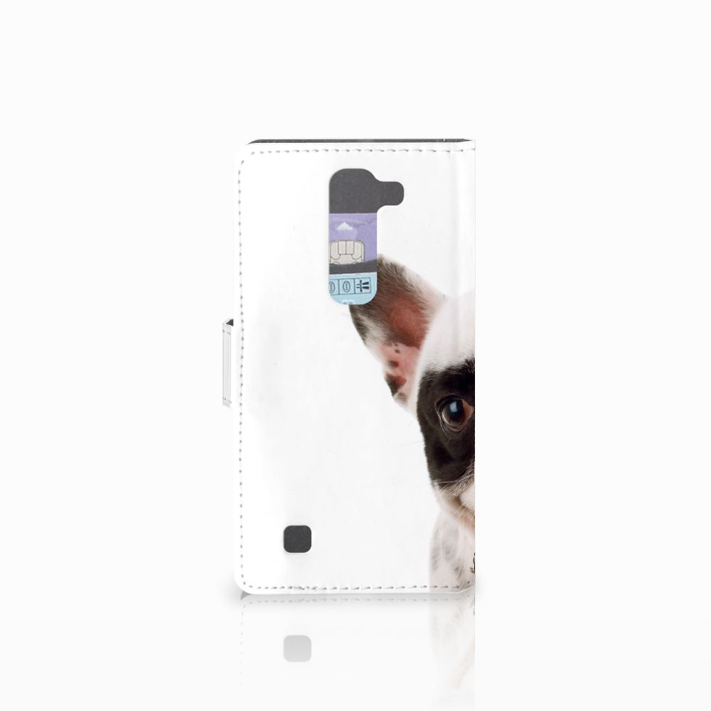 LG Magna | G4C Telefoonhoesje met Pasjes Franse Bulldog