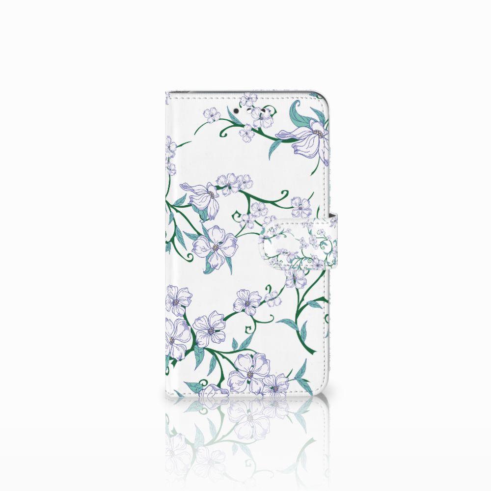 Huawei Y7 2017   Y7 Prime 2017 Uniek Boekhoesje Blossom White
