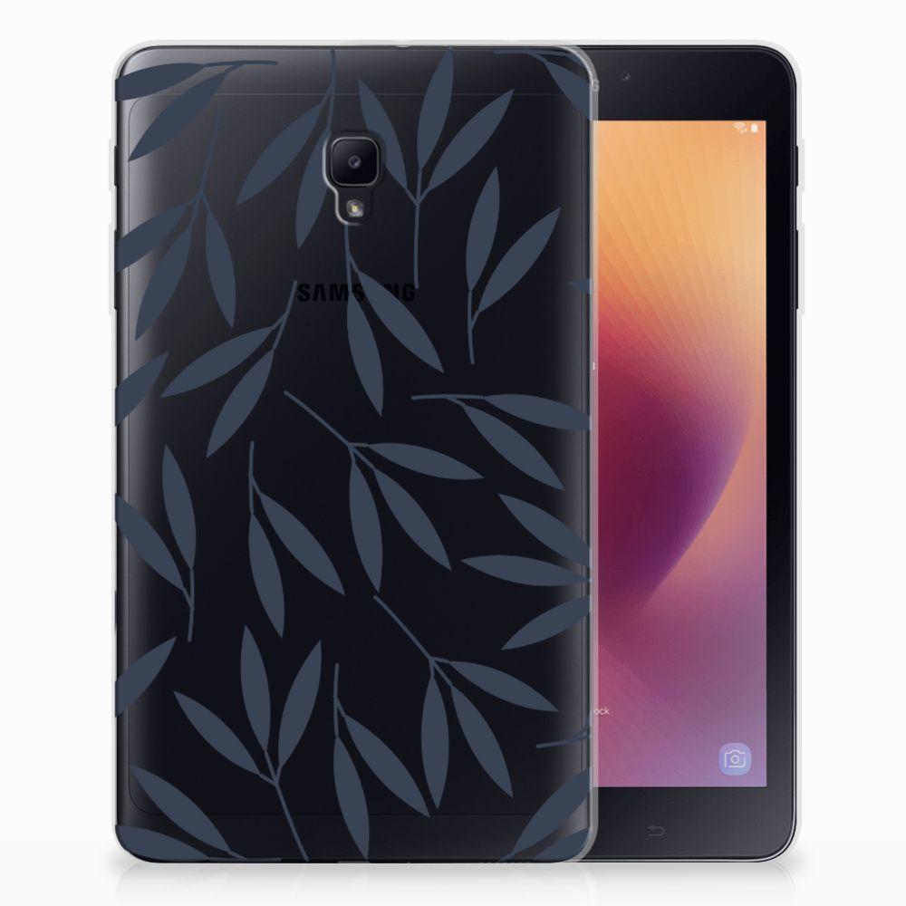 Samsung Galaxy Tab A 8.0 (2017) Tablethoesje Design Leaves Blue
