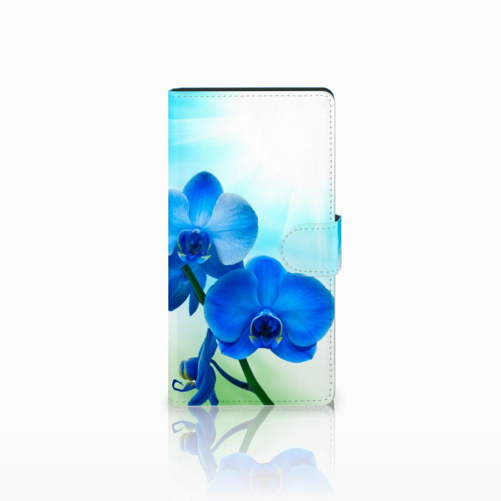 Sony Xperia C4 Boekhoesje Design Orchidee Blauw