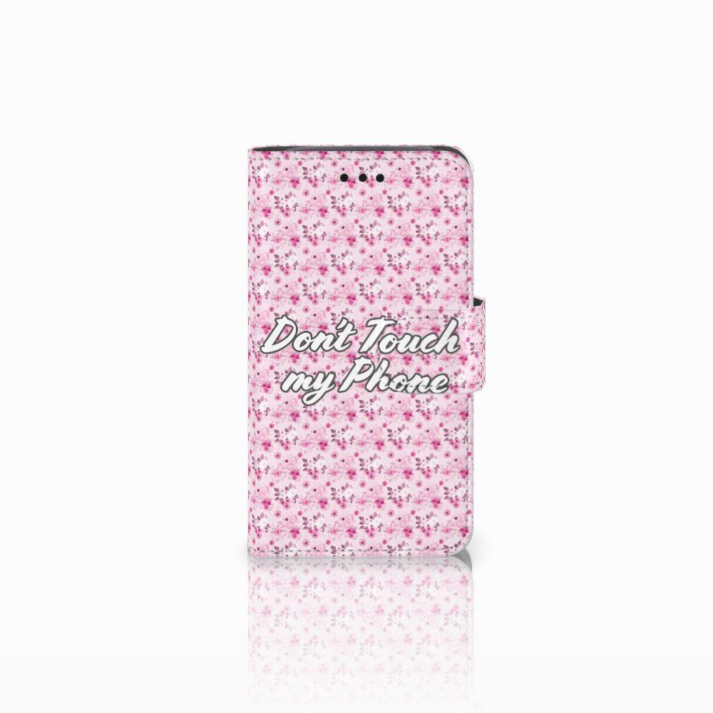 Samsung Galaxy Core i8260 Uniek Boekhoesje Flowers Pink DTMP