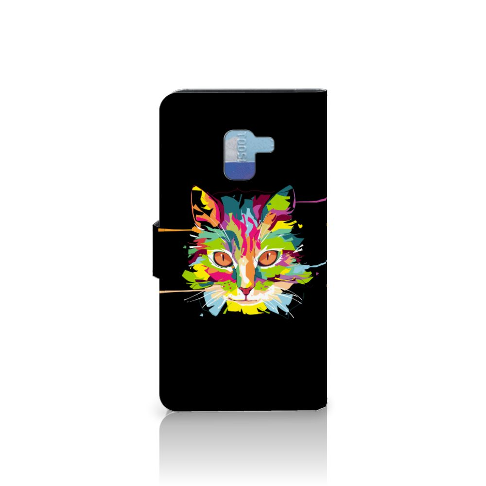 Samsung Galaxy A8 Plus (2018) Leuke Hoesje Cat Color