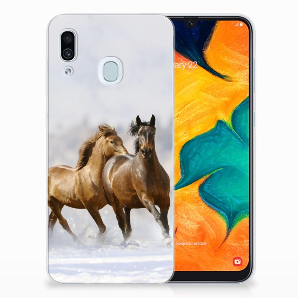 Samsung Galaxy A30 Leuk Hoesje Paarden