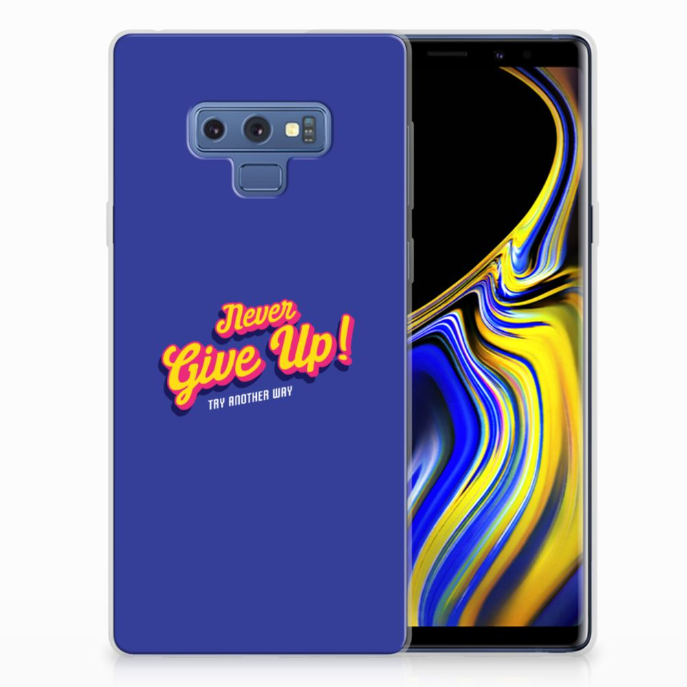 Samsung Galaxy Note 9 Siliconen hoesje met naam Never Give Up