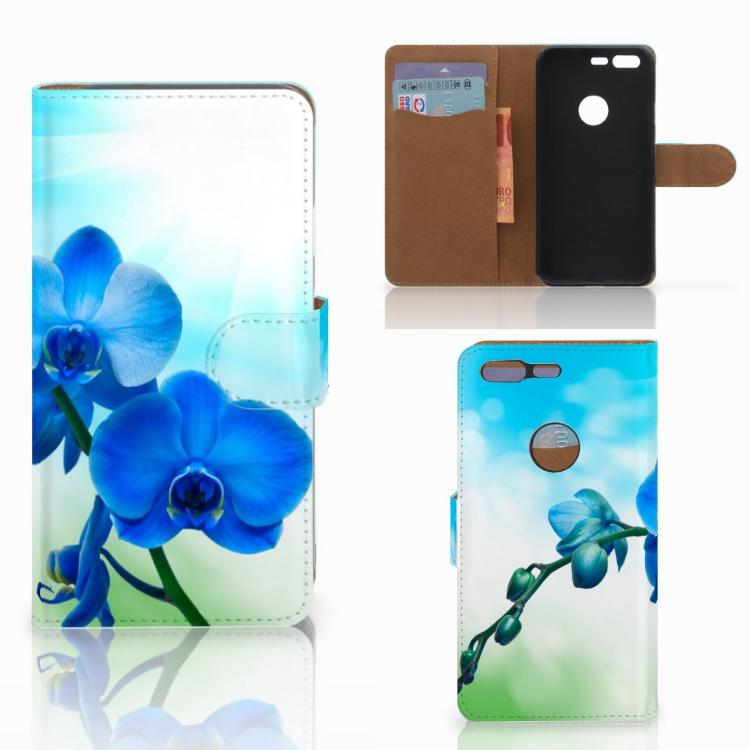 Google Pixel Hoesje Orchidee Blauw - Cadeau voor je Moeder