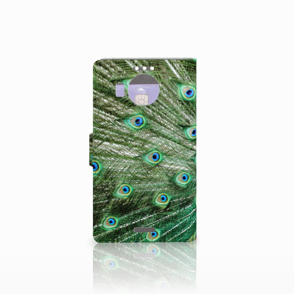 Microsoft Lumia 950 XL Telefoonhoesje met Pasjes Pauw