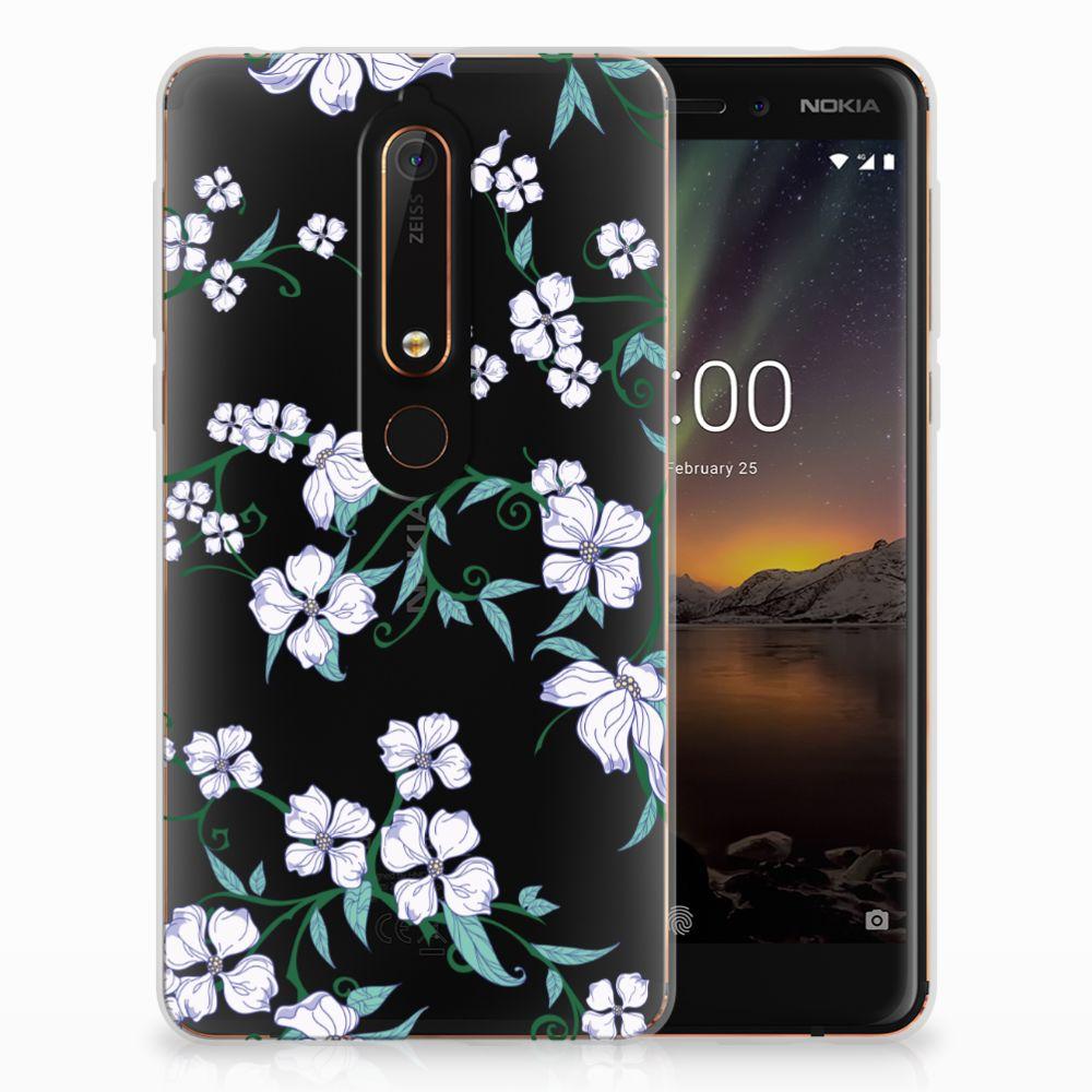 Nokia 6 (2018) Uniek TPU Hoesje Blossom White