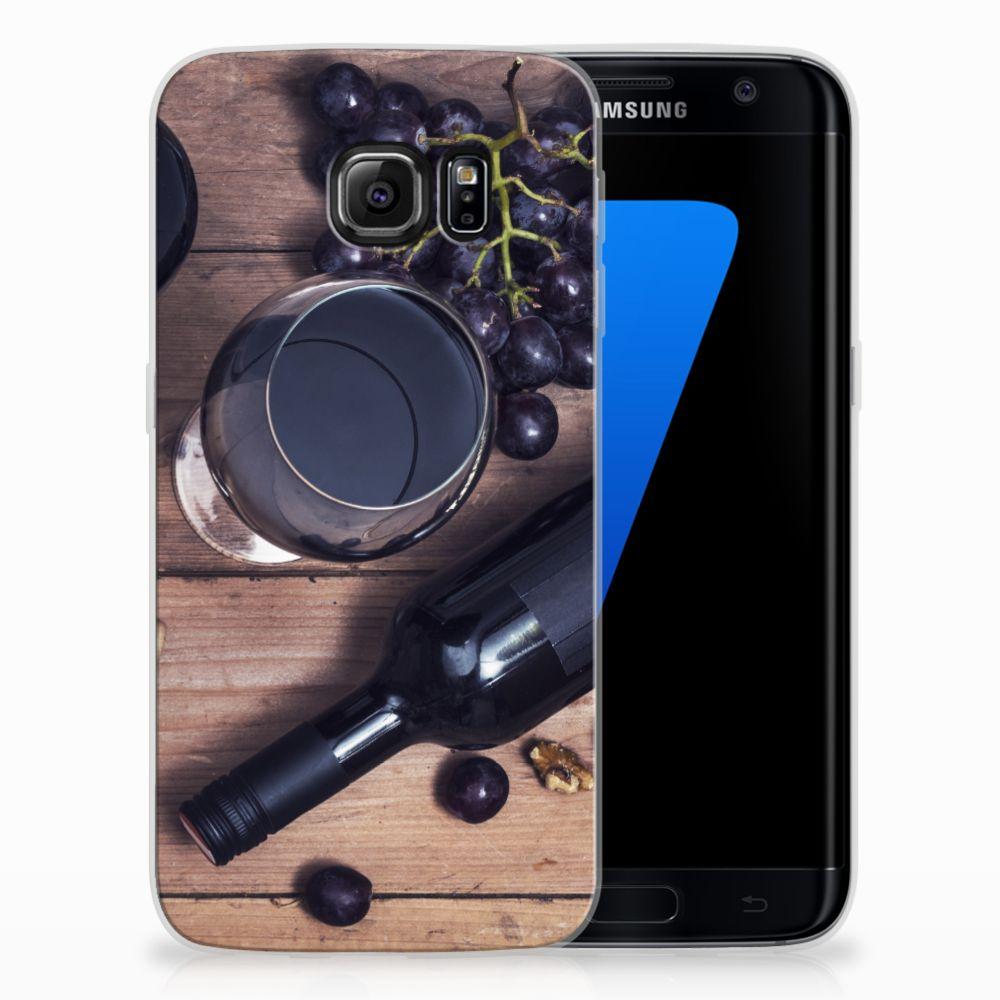 Samsung Galaxy S7 Edge Siliconen Case Wijn