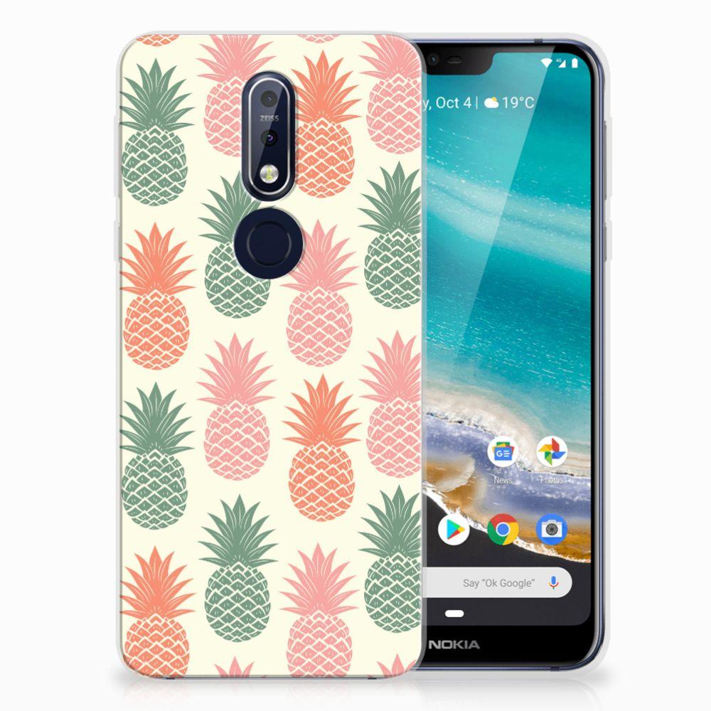 Nokia 7.1 Siliconen Case Ananas
