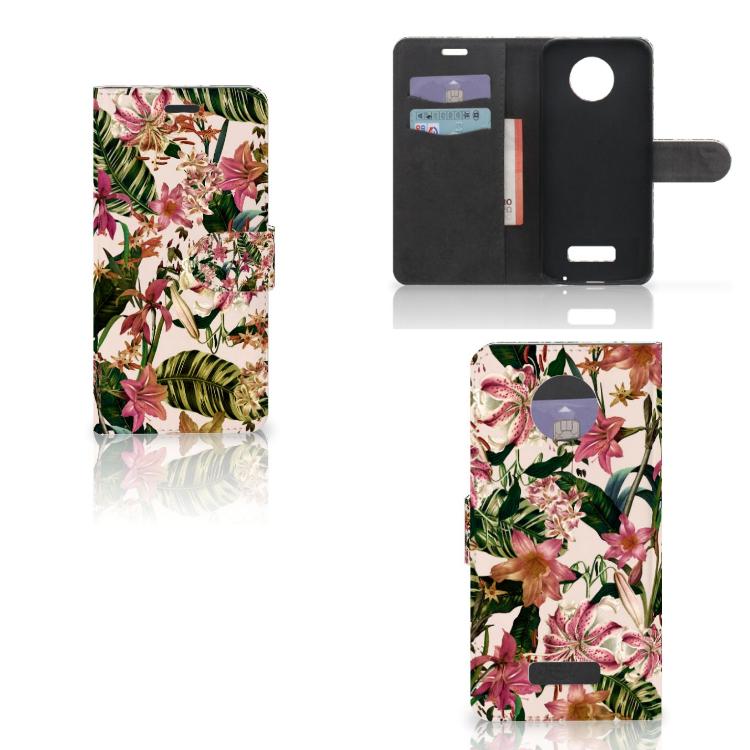 Motorola Moto Z Hoesje Flowers