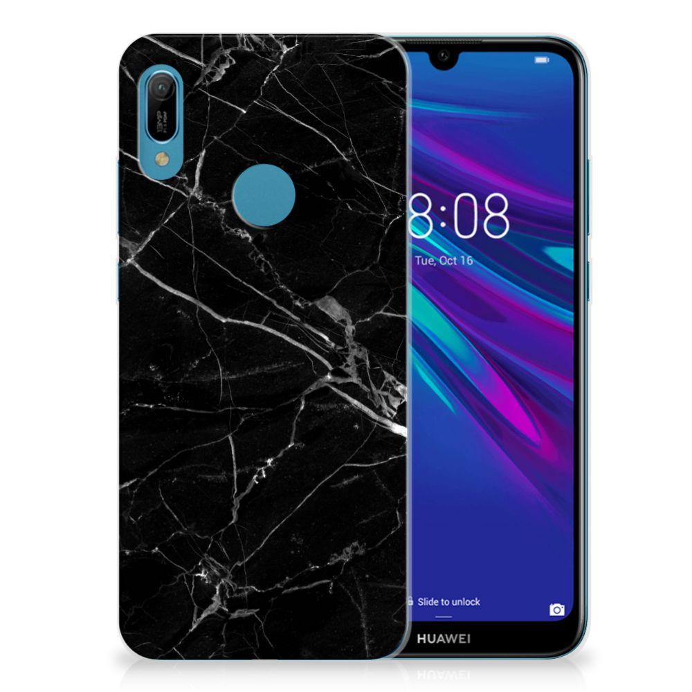 Huawei Y6 2019 | Y6 Pro 2019 TPU Siliconen Hoesje Marmer Zwart