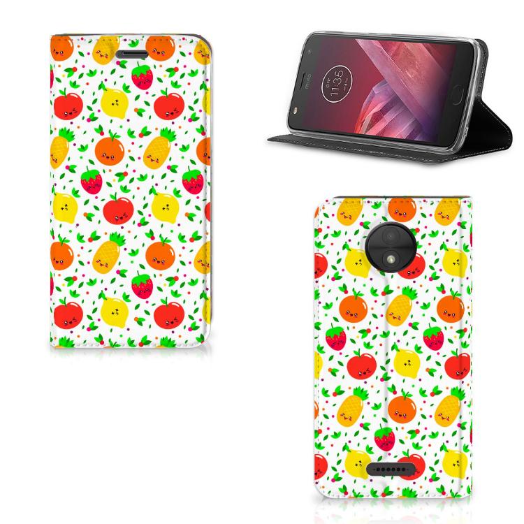 Motorola Moto C Flip Style Cover Fruits