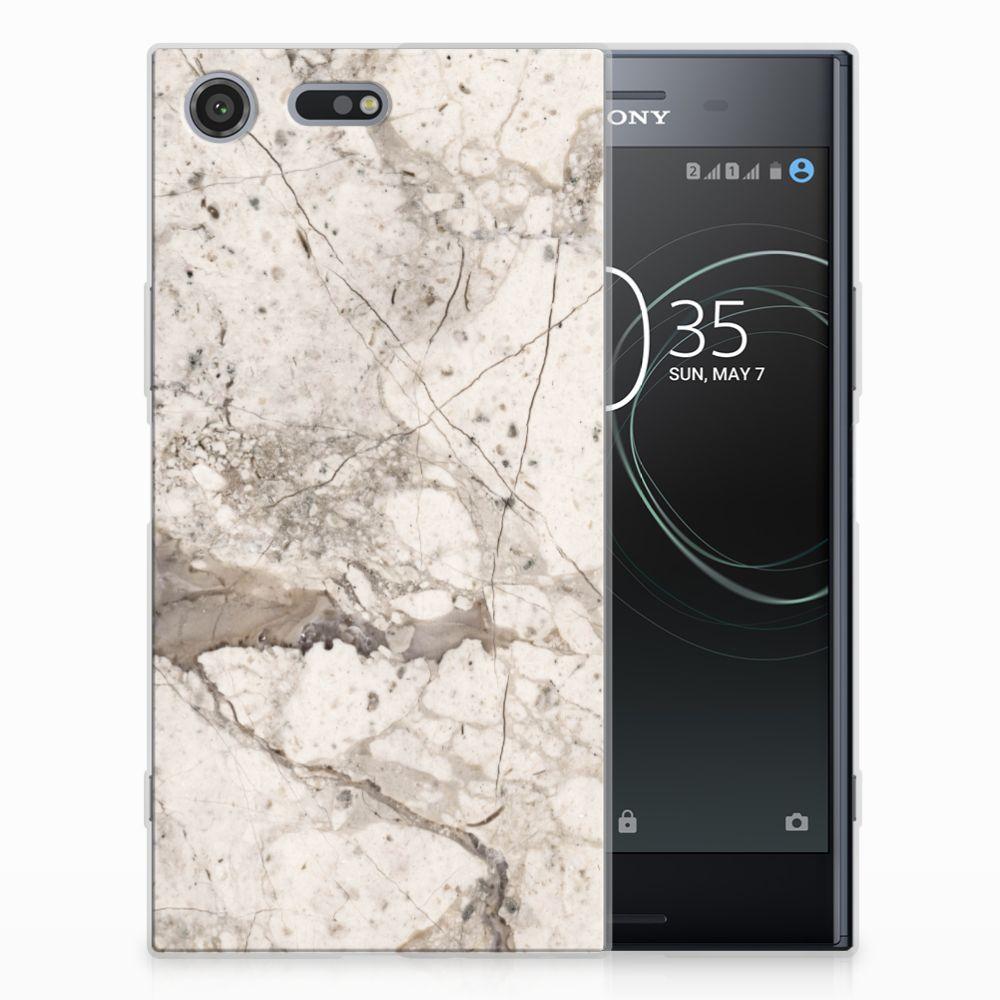 Sony Xperia XZ Premium TPU Hoesje Design Marmer Beige